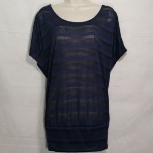 Lane Bryant | Sheer Striped Top NWOT